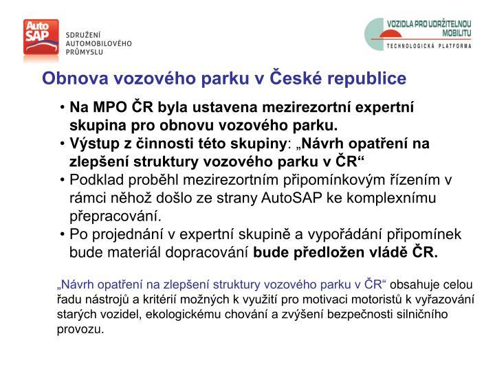 Obnova vozového parku v České republice