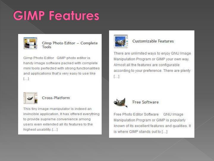 GIMP Features