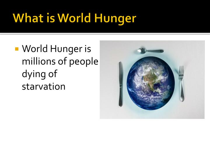 What is world hunger