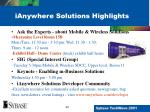 ianywhere solutions highlights