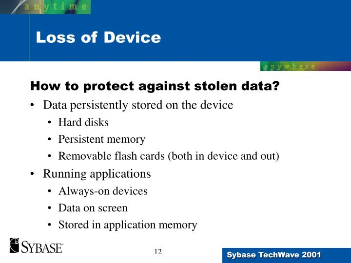 How to protect against stolen data?
