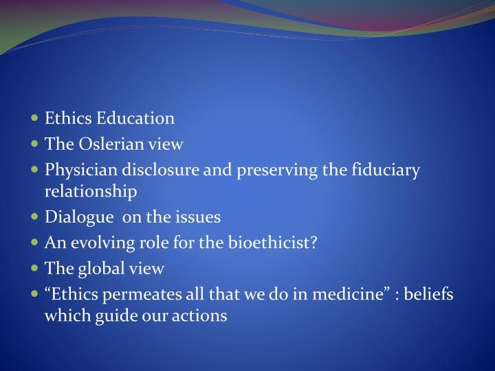 Ethics Education