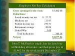 employee net pay calculation