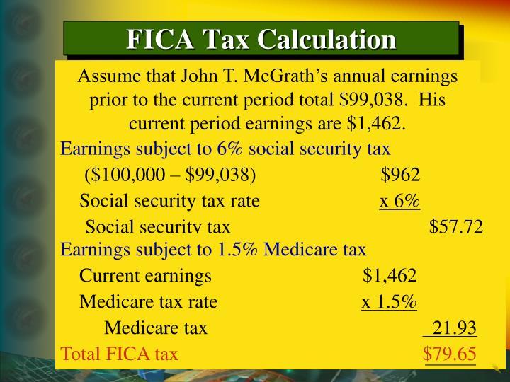FICA Tax Calculation