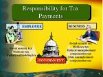 responsibility for tax payments