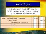 wesel bayar