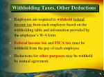 withholding taxes other deductions