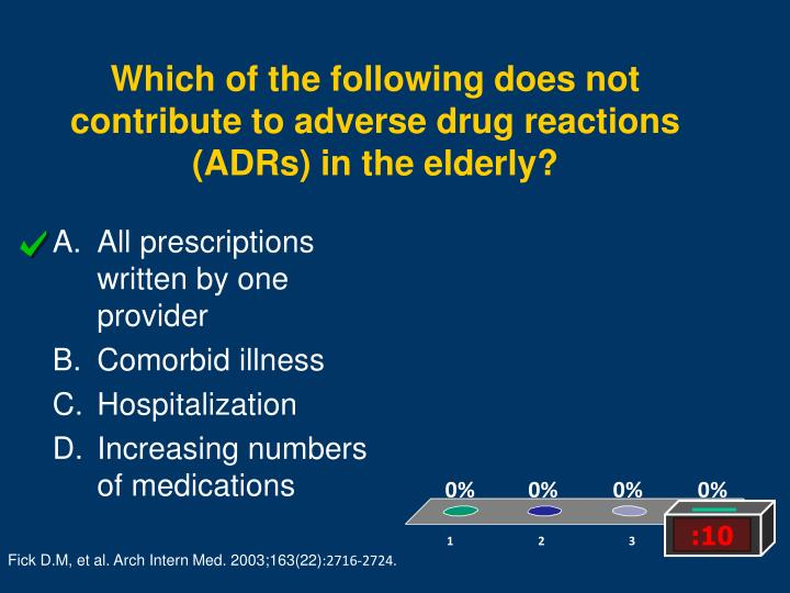 Which of the following does not contribute to adverse drug reactions (ADRs) in the elderly?
