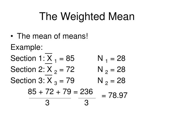 The Weighted Mean