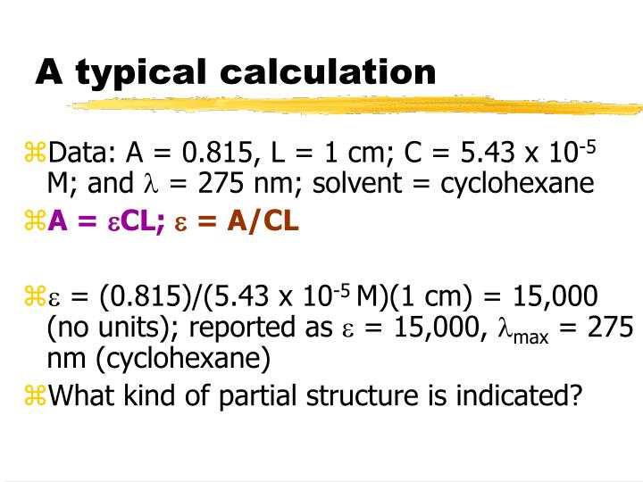 A typical calculation