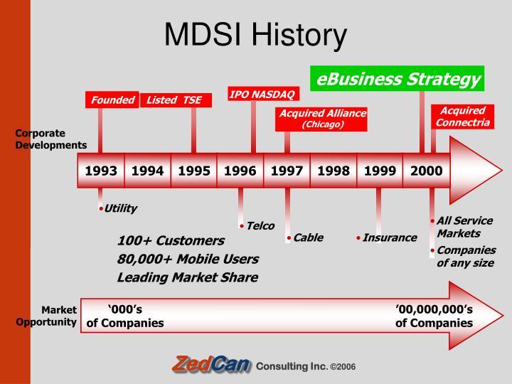 MDSI History