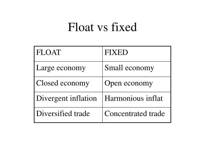 Float vs fixed