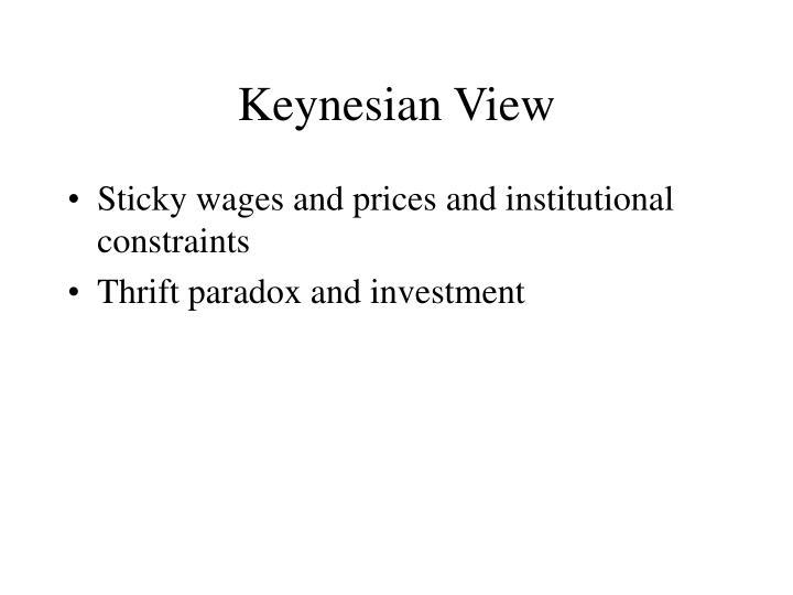 Keynesian View
