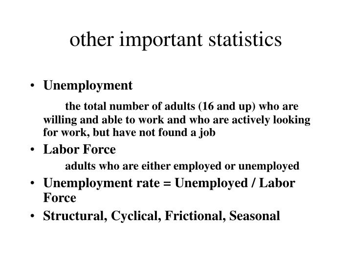 other important statistics