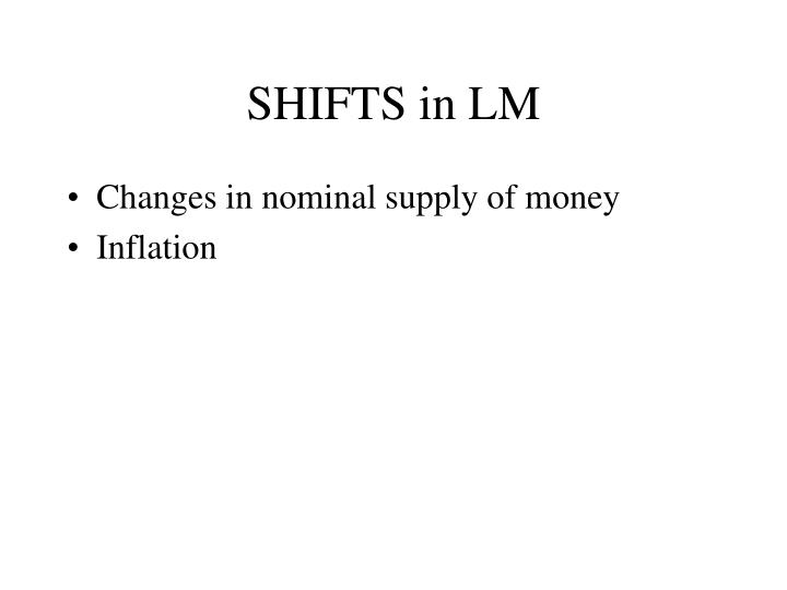 SHIFTS in LM