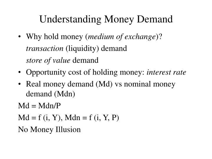 Understanding Money Demand