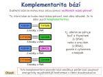 komplementarita b z1