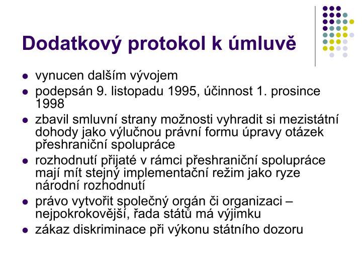 Dodatkový protokol k úmluvě