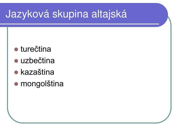 Jazyková skupina altajská