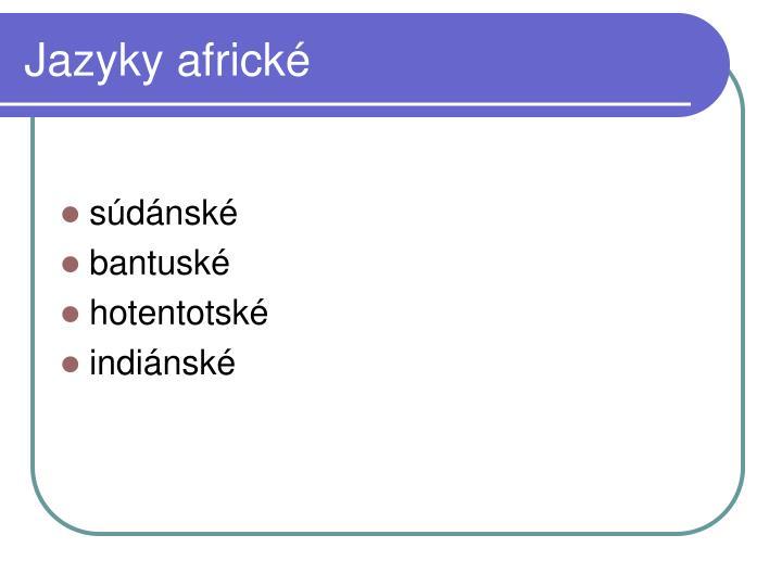 Jazyky africké