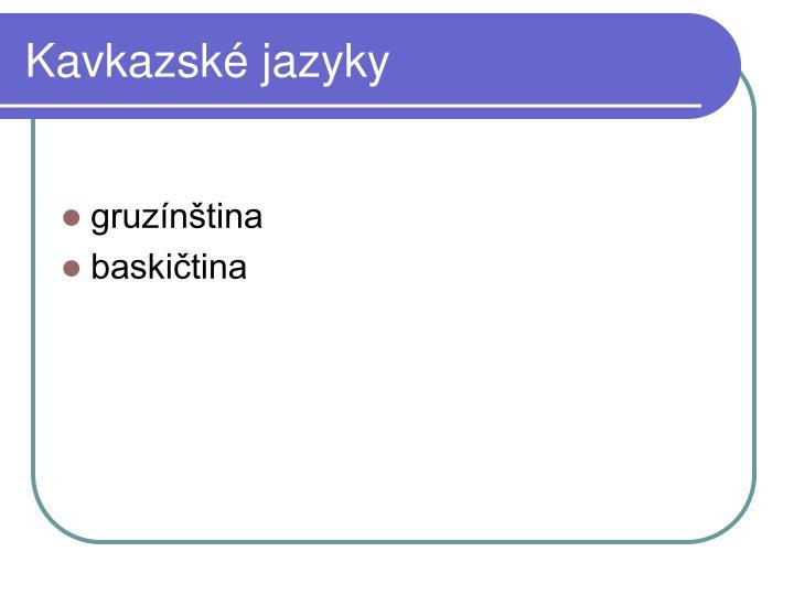 Kavkazské jazyky