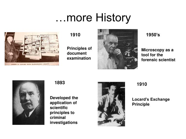 …more History