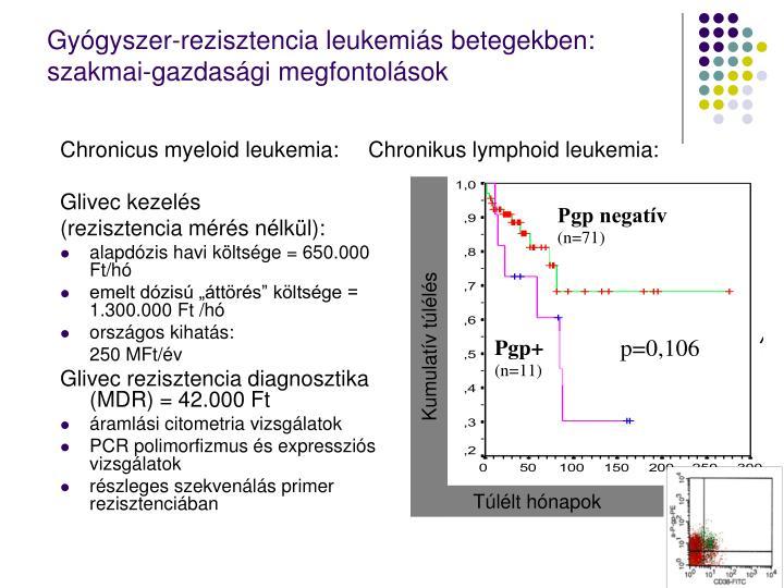 Gyógyszer-rezisztencia leukemiás betegekben: szakmai-gazdasági megfontolások