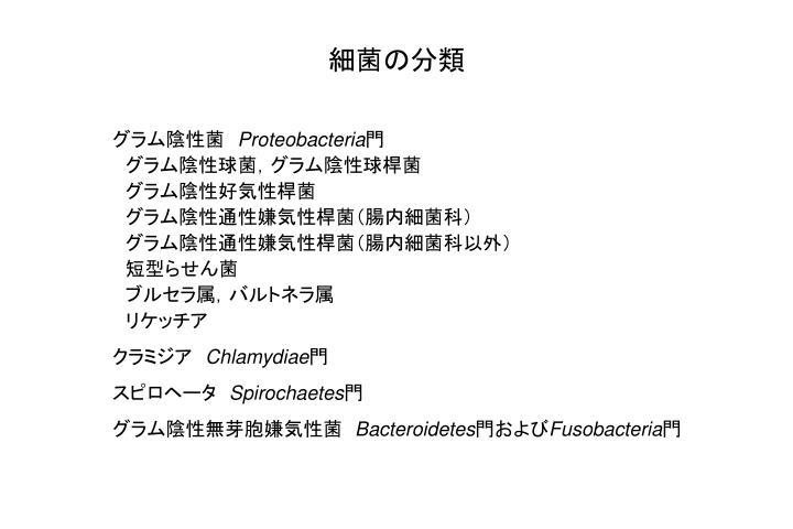 細菌の分類
