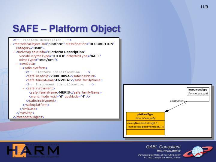 SAFE – Platform Object