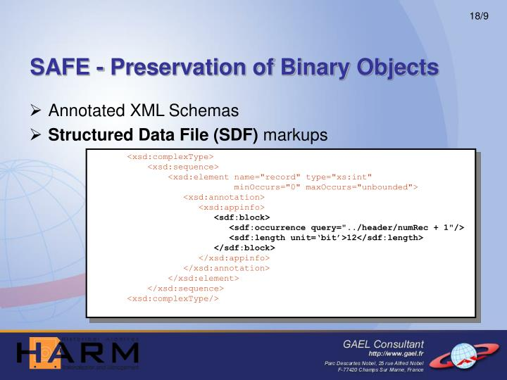 SAFE - Preservation of Binary Objects