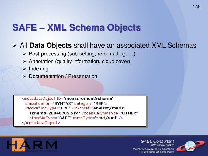 SAFE – XML Schema Objects