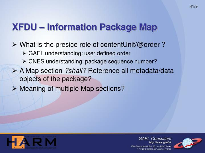 XFDU – Information Package Map