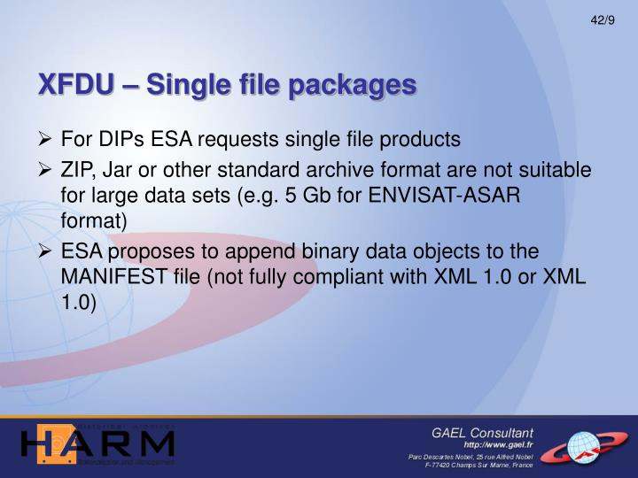 XFDU – Single file packages