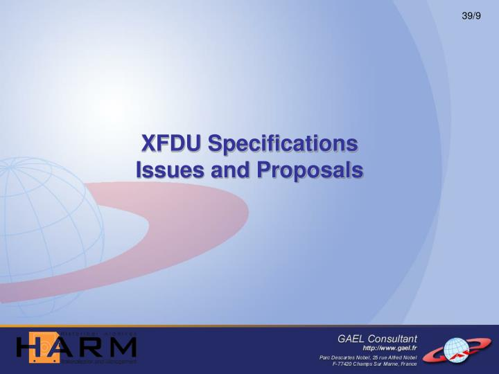 XFDU Specifications