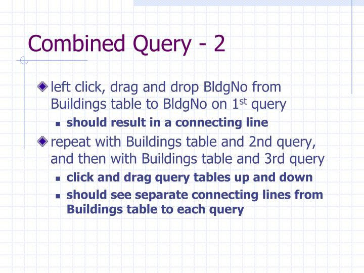 Combined Query - 2