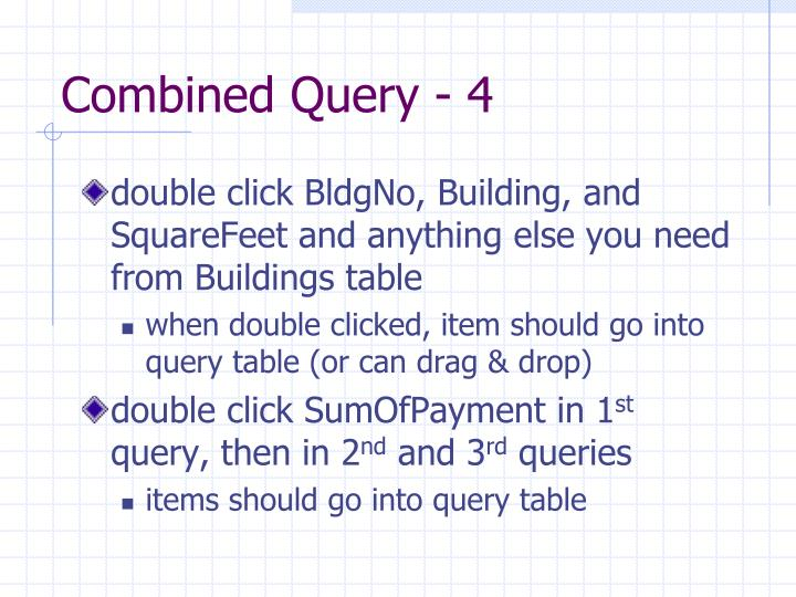 Combined Query - 4