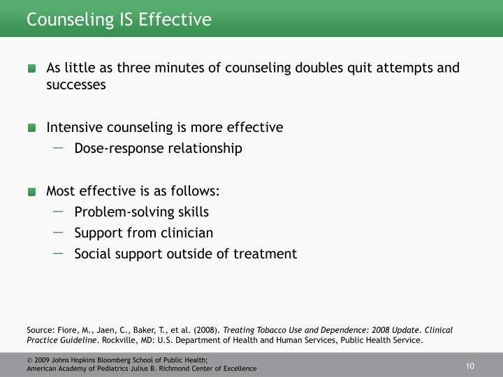 Counseling IS Effective