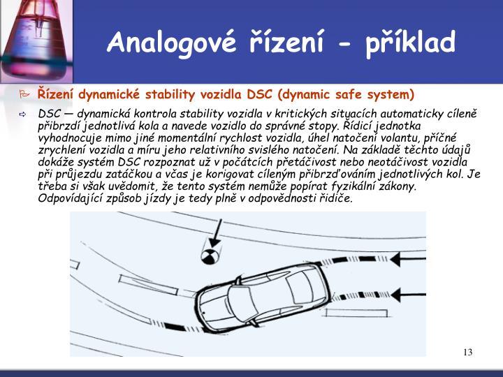 Analogové řízení - příklad