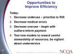 opportunities to improve efficiency