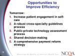 opportunities to improve efficiency1