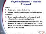 payment reform a modest proposal