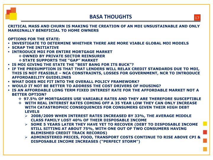 BASA THOUGHTS