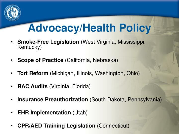 Advocacy/Health Policy