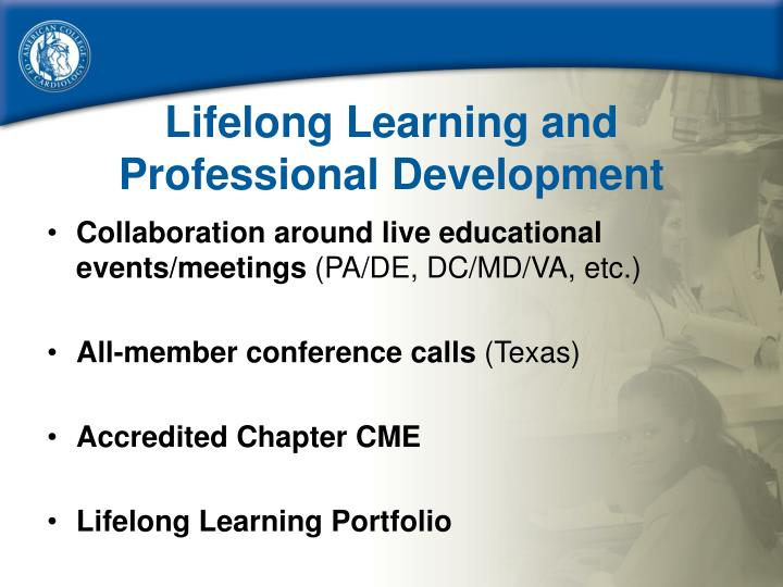 Lifelong Learning and Professional Development