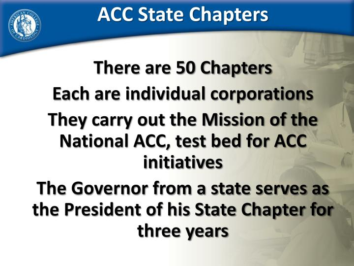 ACC State Chapters