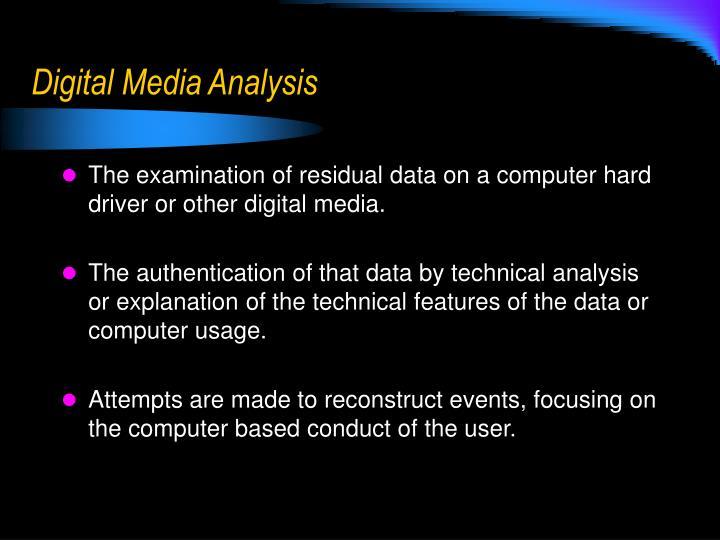 Digital Media Analysis