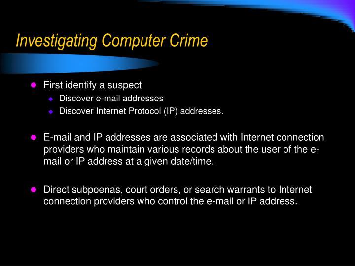 Investigating Computer Crime