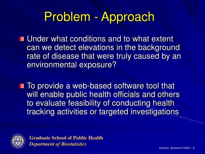 Problem - Approach