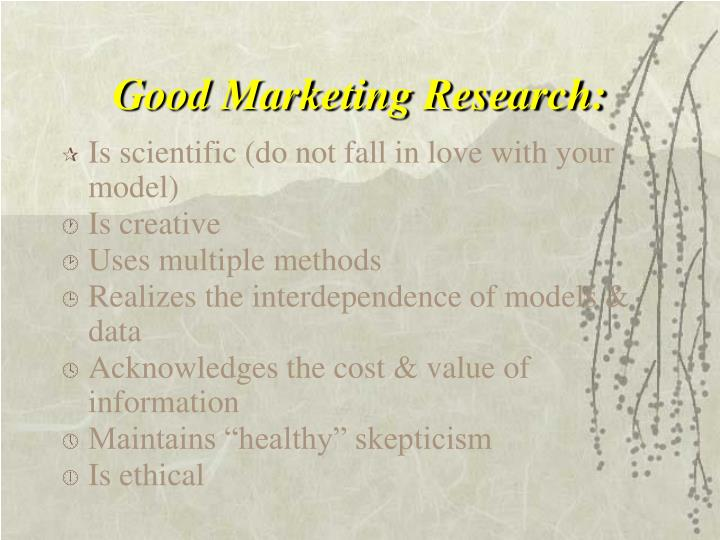 Good Marketing Research: