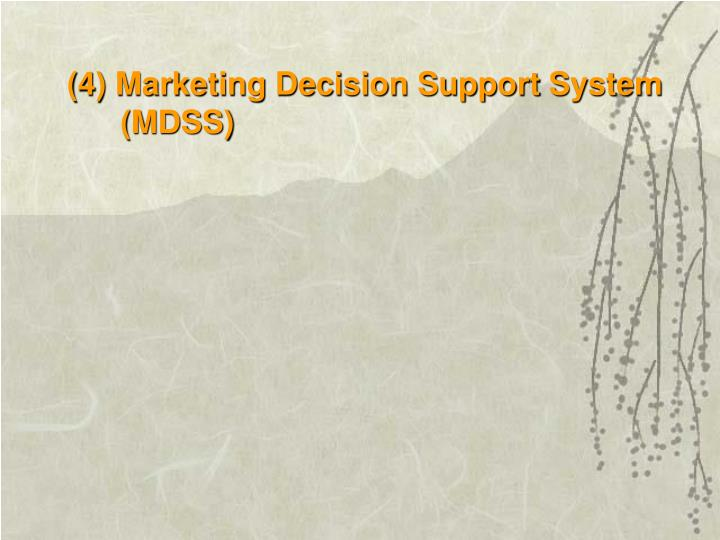 (4) Marketing Decision Support System